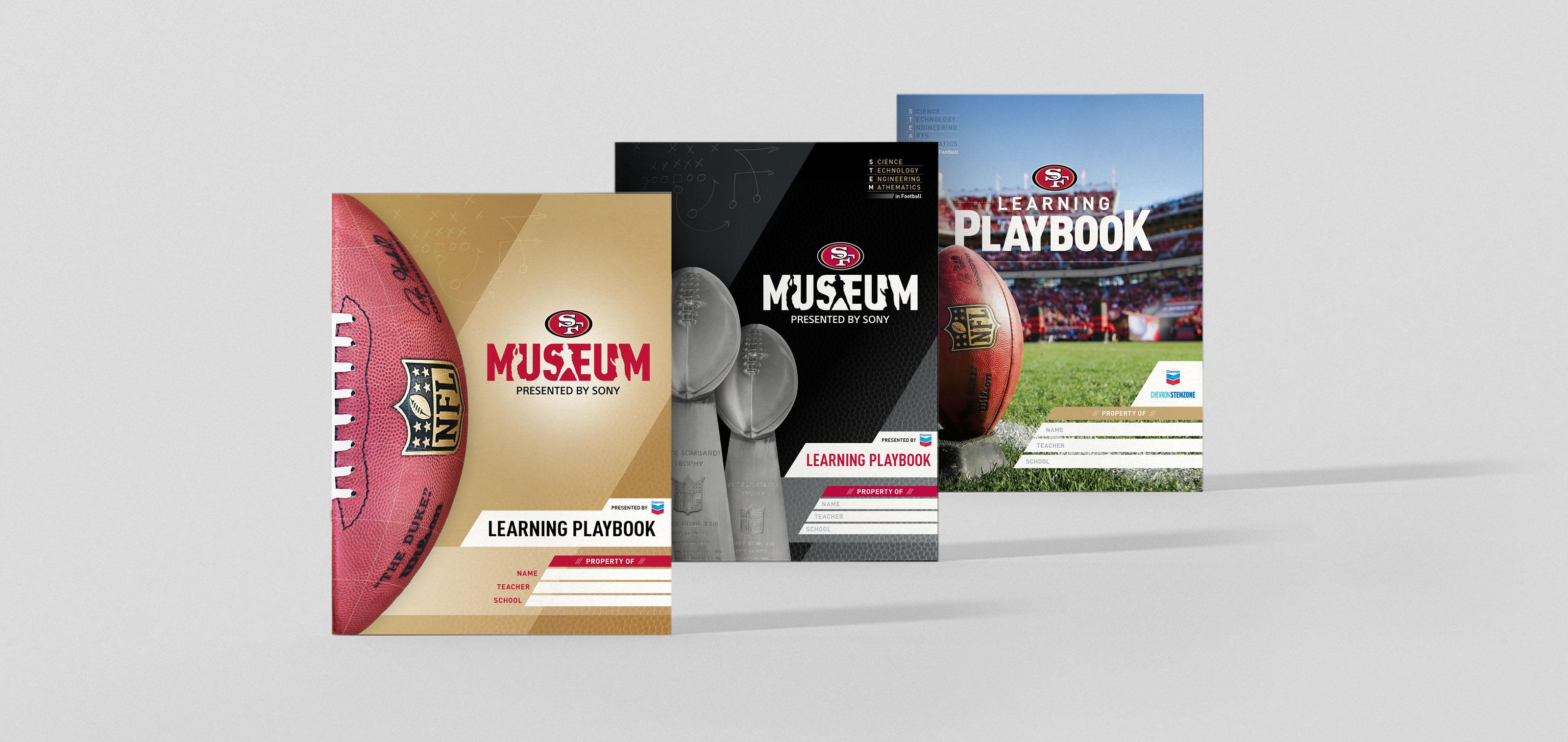 San Francisco 49ers Museum Education Playbook Design