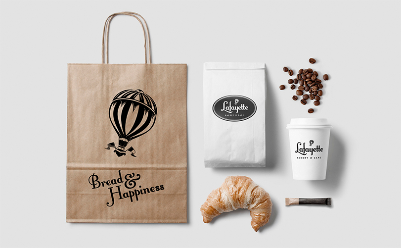 Lafayette Bags and Coffee Cup