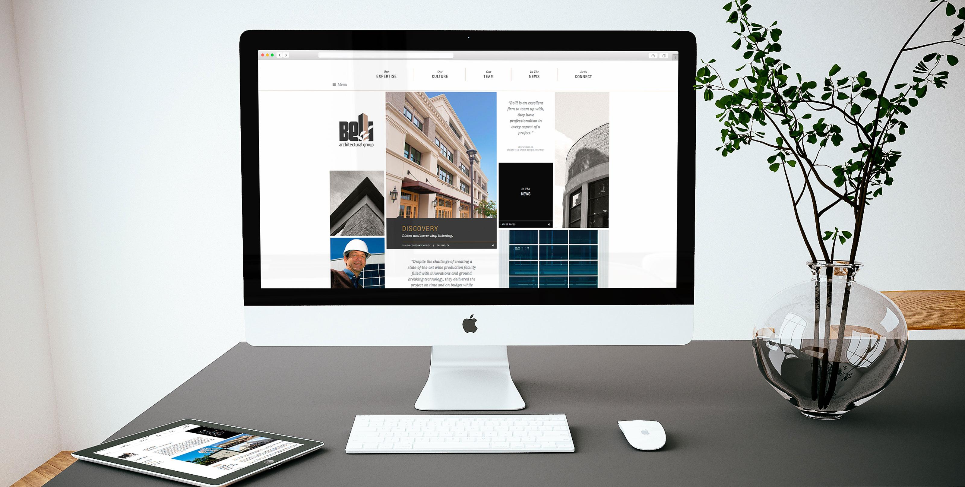 Belli Website on Desktop