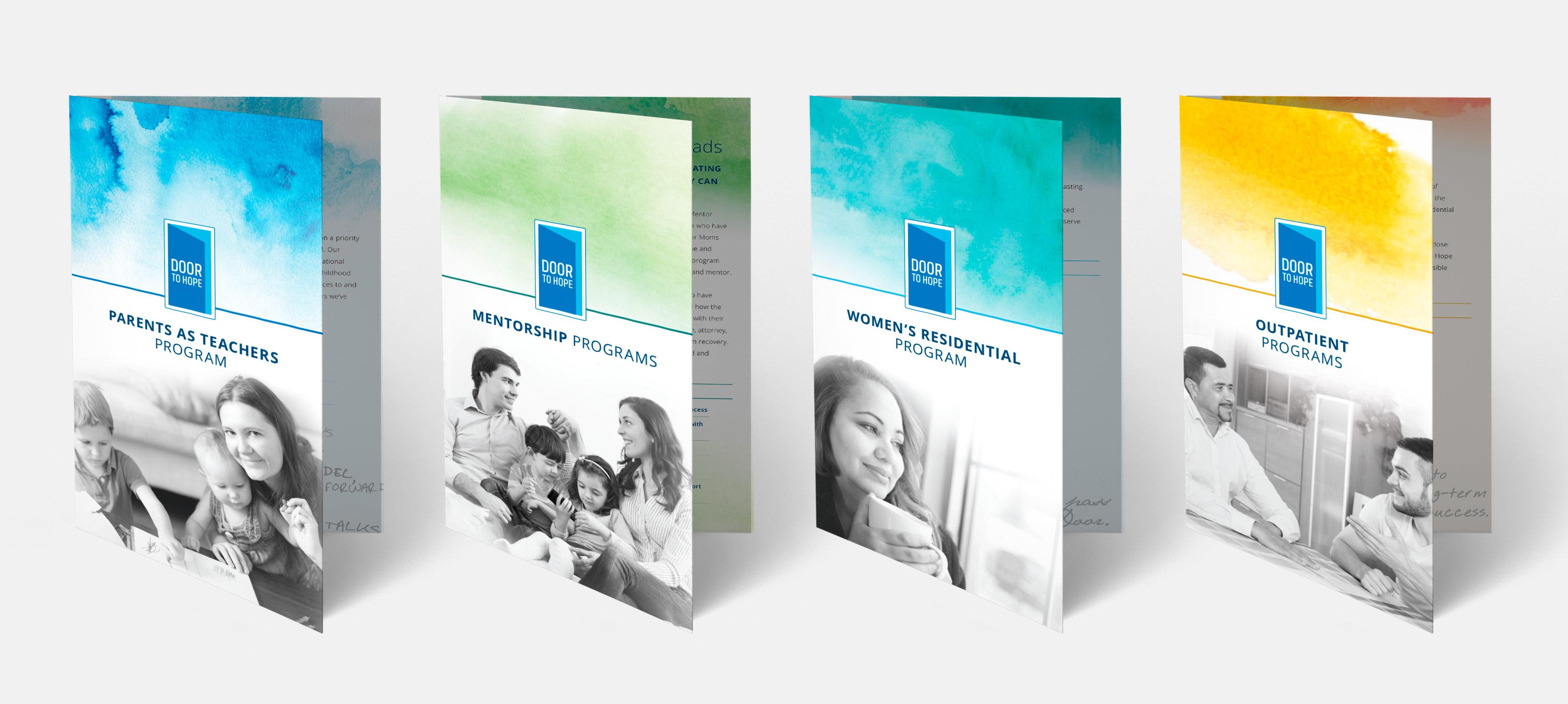 Door to Hope Brochures Standing Up