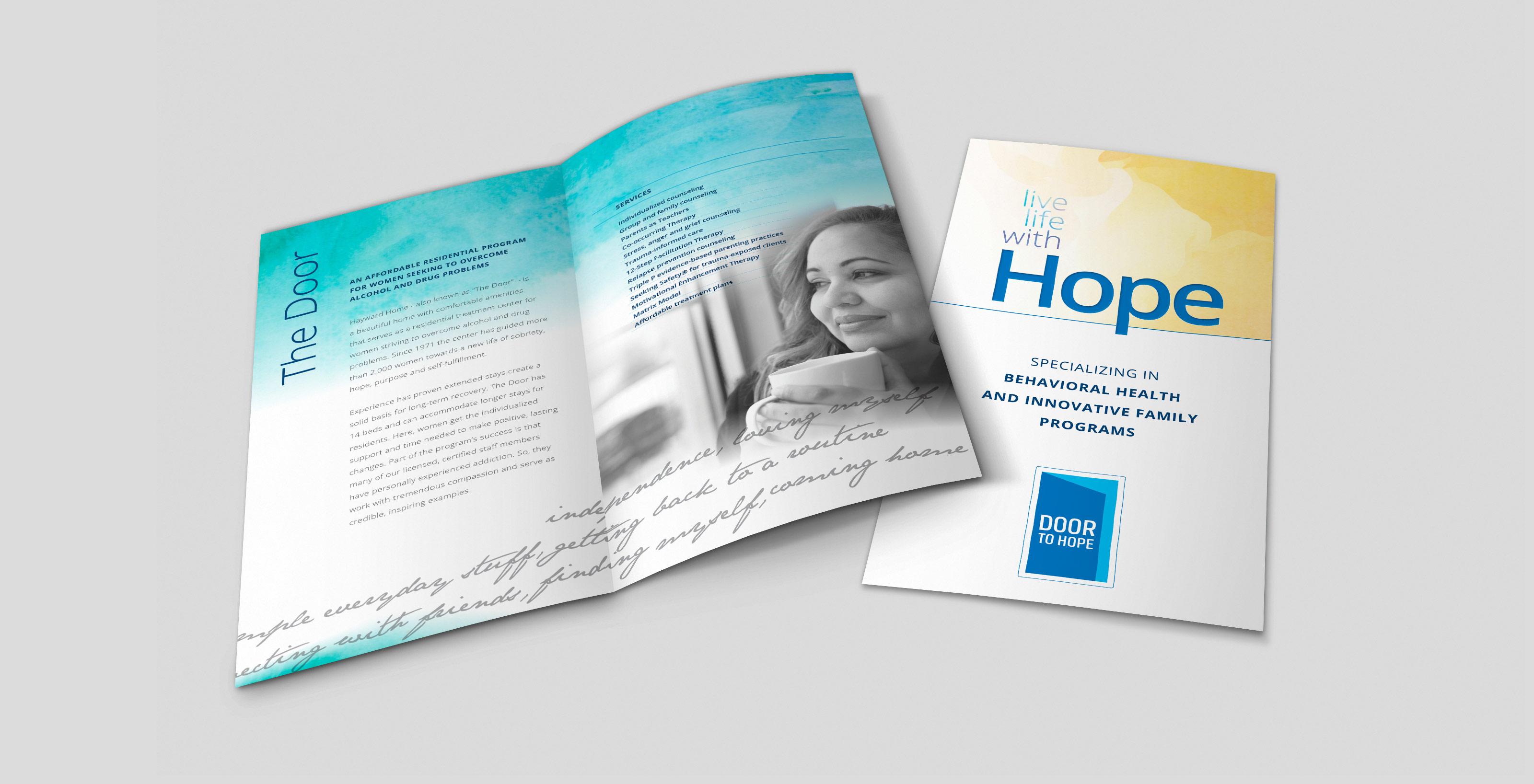 Door to Hope Bifold Brochure Design