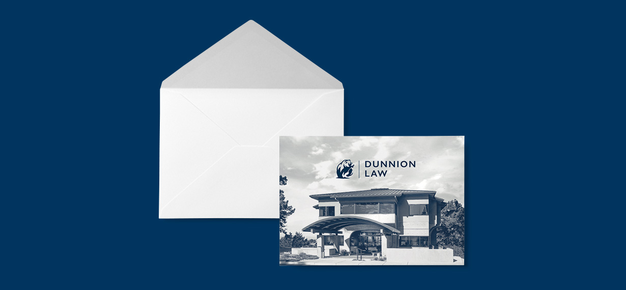 Dunnion Law Notecard and Envelope