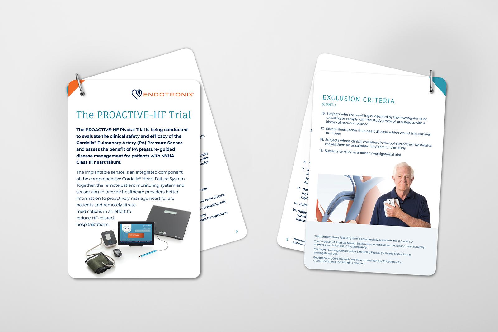 Endotronix HF Trial Card Graphic Design