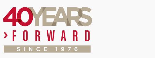 Hayashi Wayland 40 Years Forward Anniversary Logo