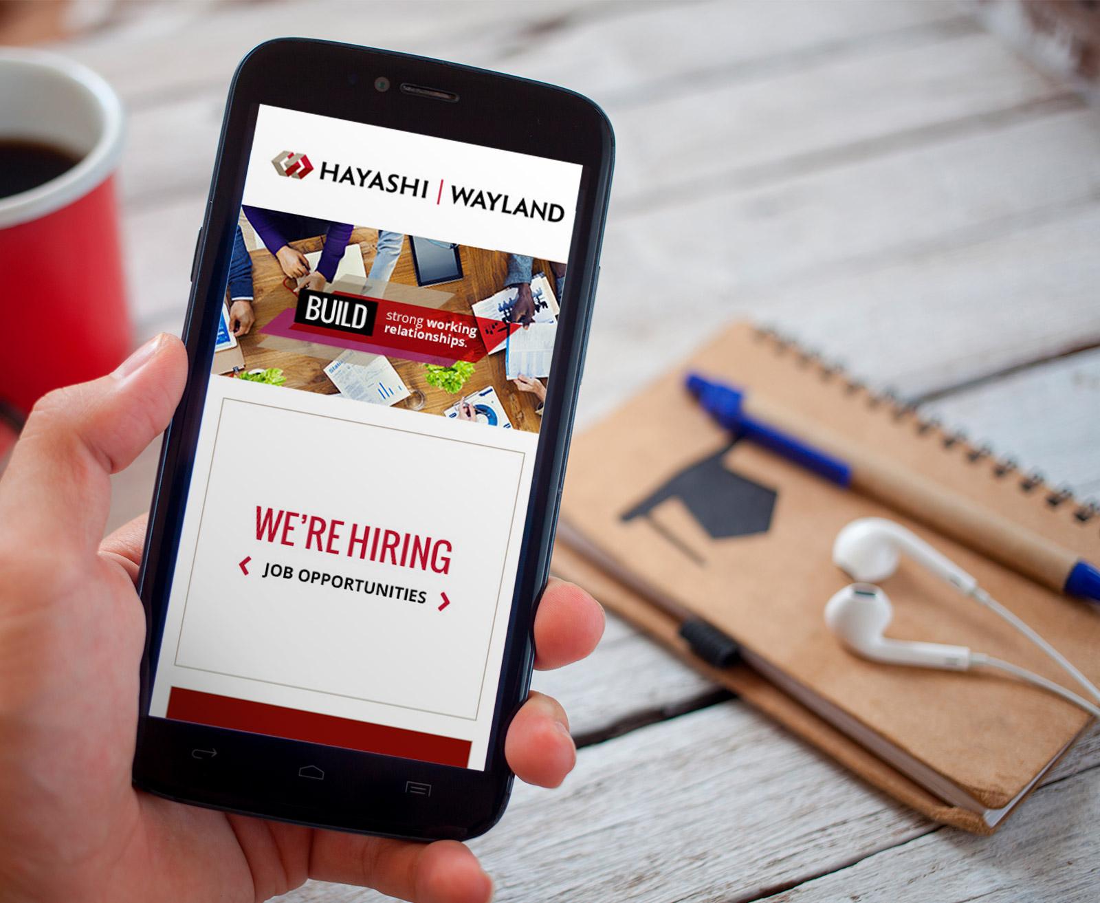 Hayashi Wayland Website Mobile Responsive Design