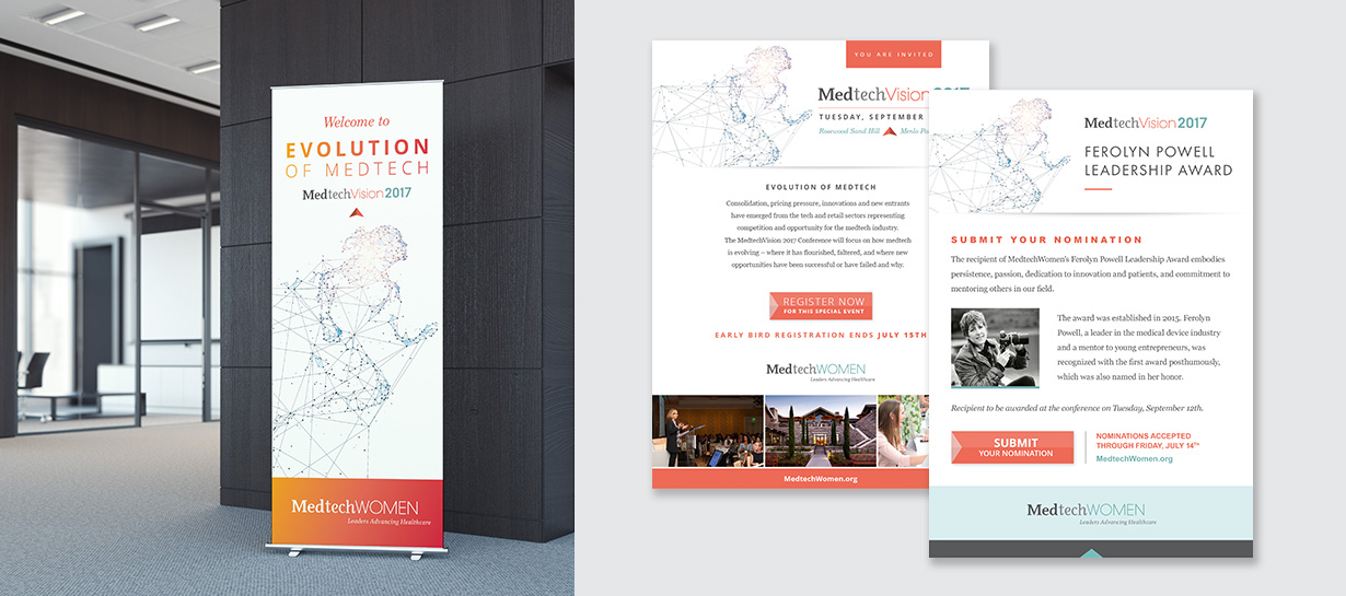 Medtech Vision Pull-up Banner and Trade Ads