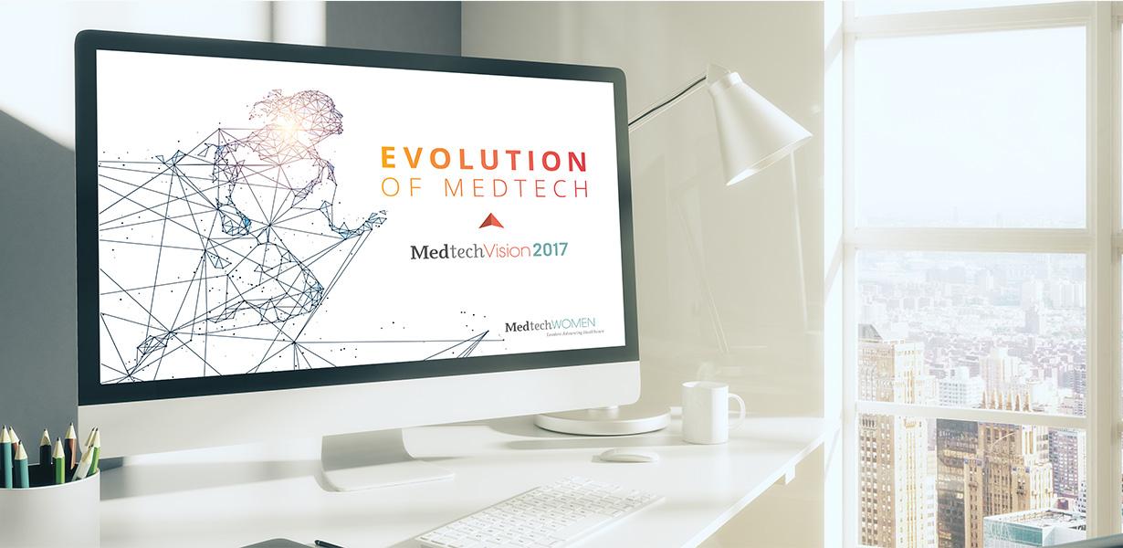 Medtech Vision Website on Desktop Computer