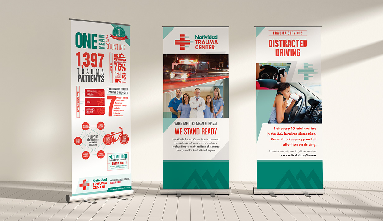 Natividad Trauma Center Pull-up Banners