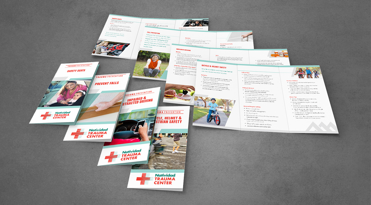 Natividad Trauma Center Brochure Series