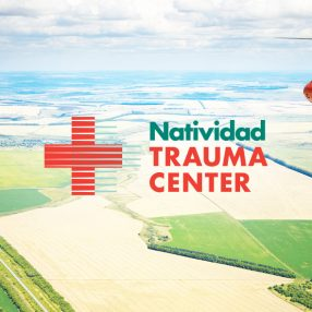 Natividad Trauma Center Header Image with Helicopter