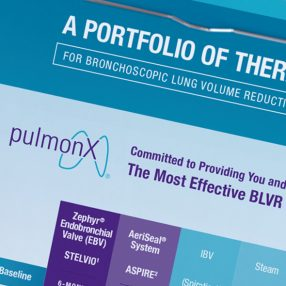 Pulmonx Flyer on Clipboard