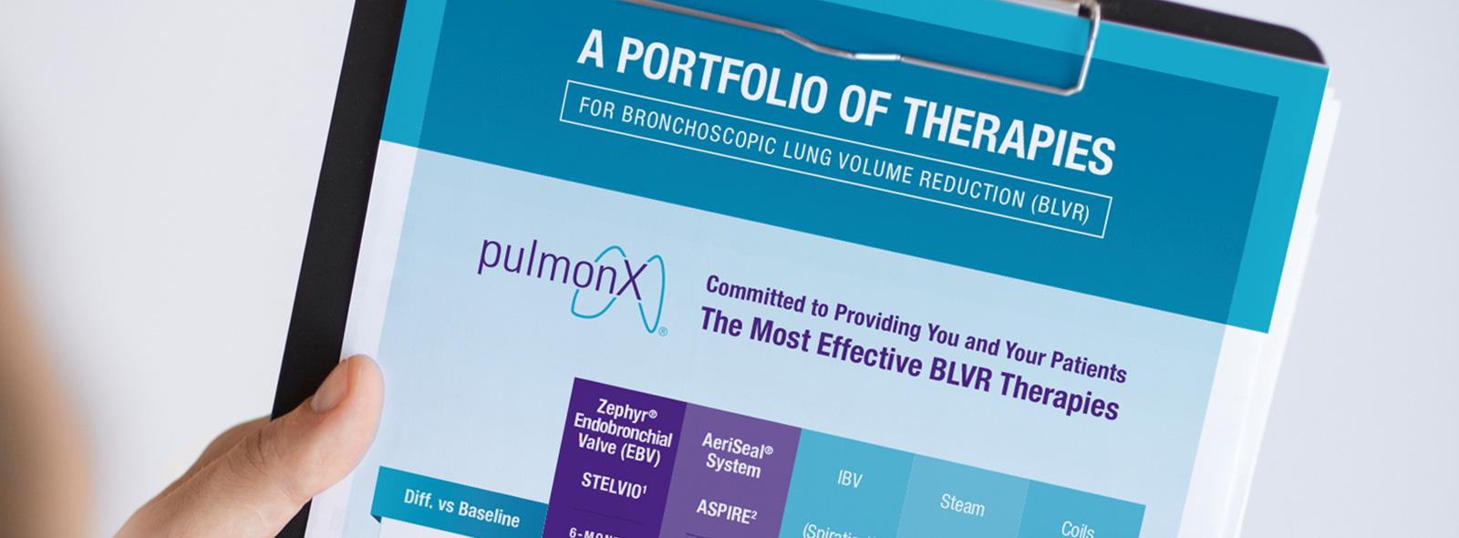 Pulmonx Flyer on Clipboard