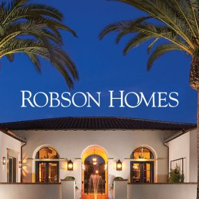 Robson Homes Header Image with Palm Trees
