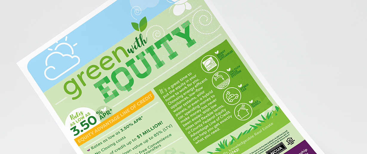 SCCFCU Green with Equity Poster
