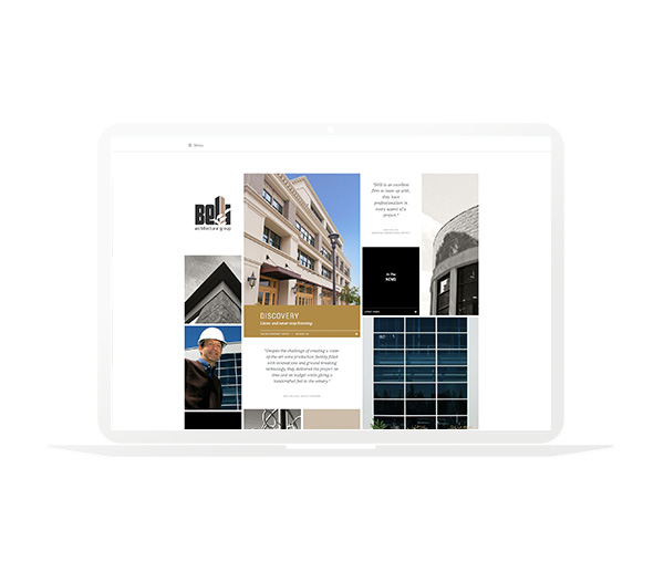 Belli Architectural Group Website Homepage