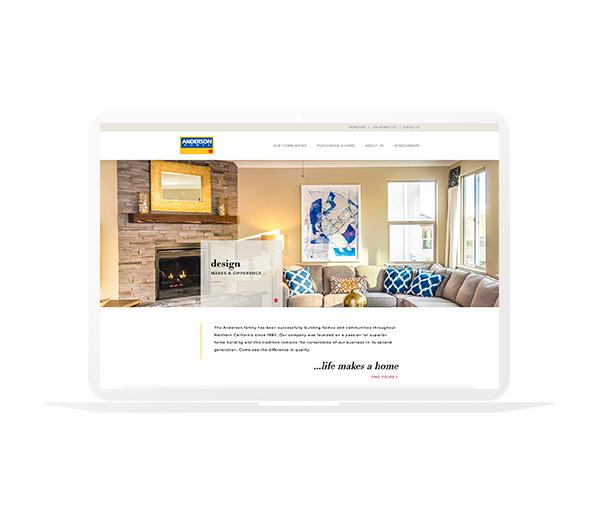 Anderson Homes Website Homepage
