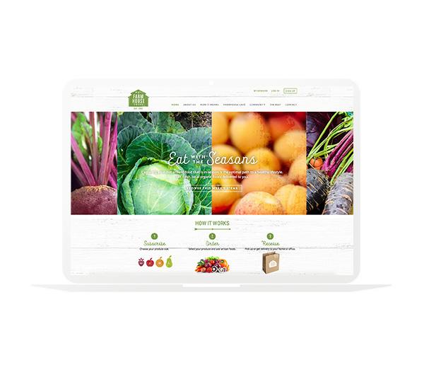 Farm House Foods Website Homepage