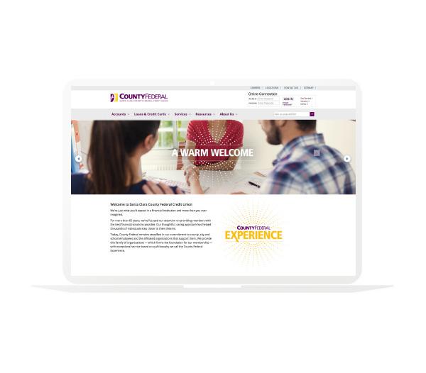 SCCFCU Website Homepage