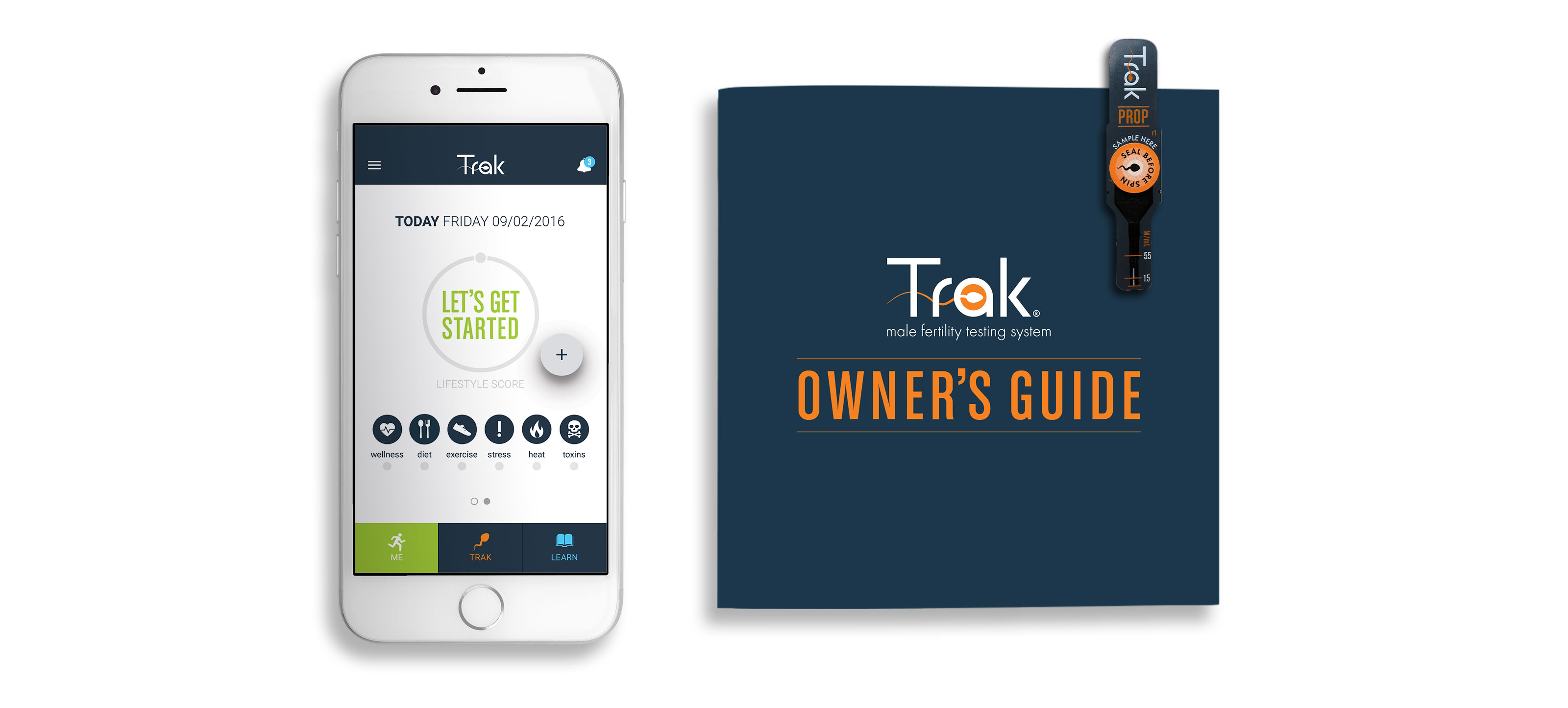 Trak Owner's Guide Cover and Mobile App