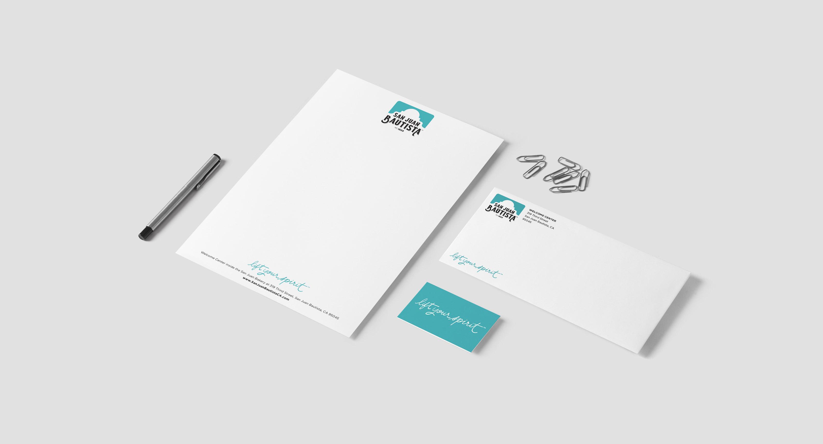 San Juan Bautista Stationary: Letterhead, Business Card
