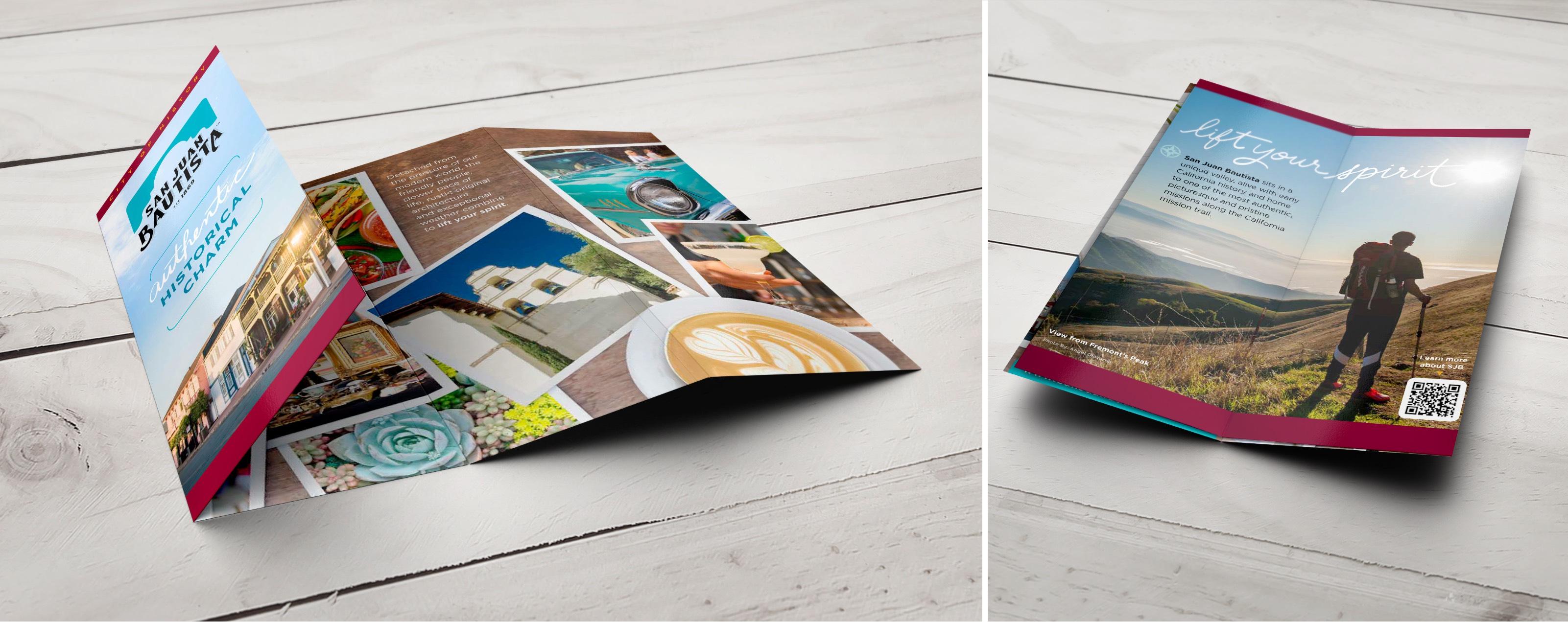 San Juan Bautista Trifold Brochure Design