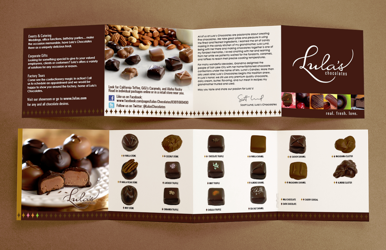 Lula's Chocolates Box Brochure