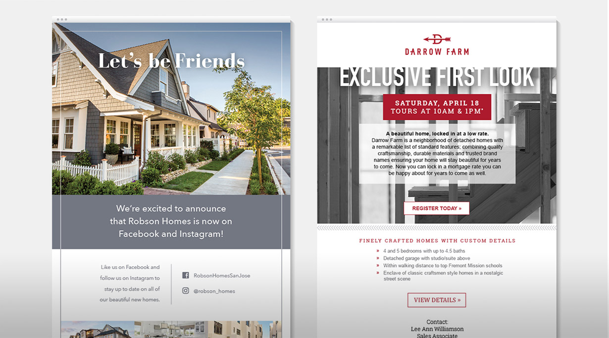 robson-homes-email-marketing-design
