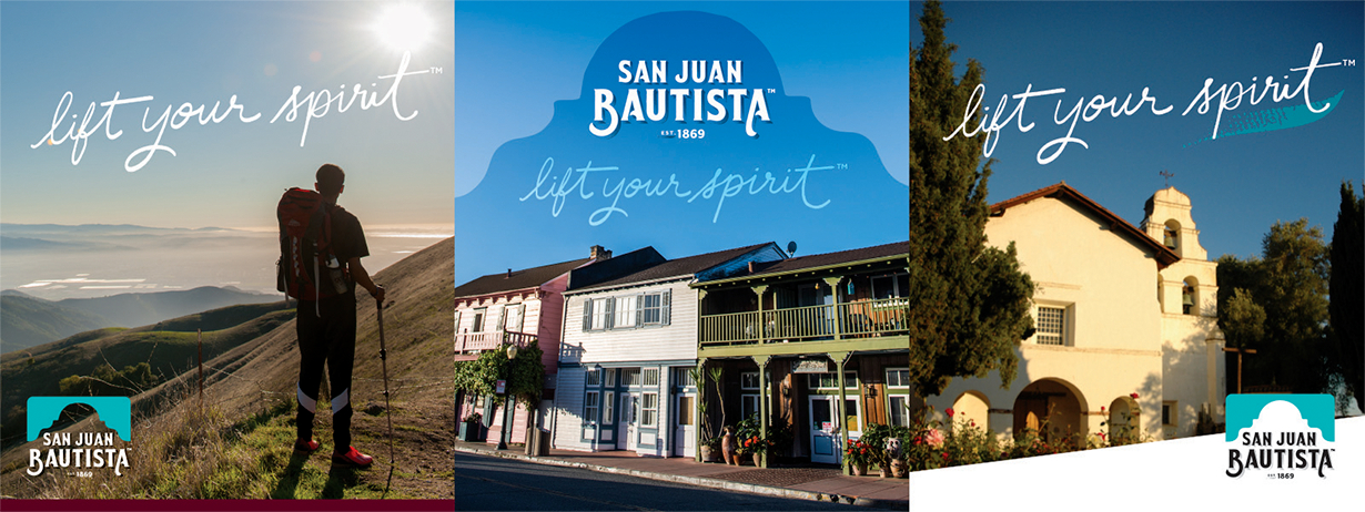 "San Juan Bautista ""Lift Your Spirit"" Imagery"