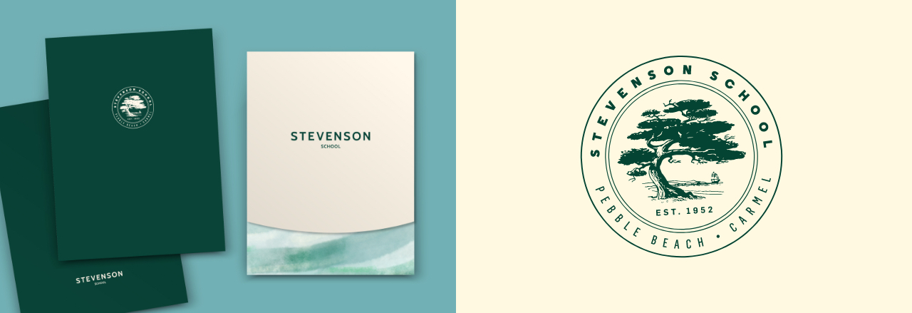 Stevenson school stationary folders