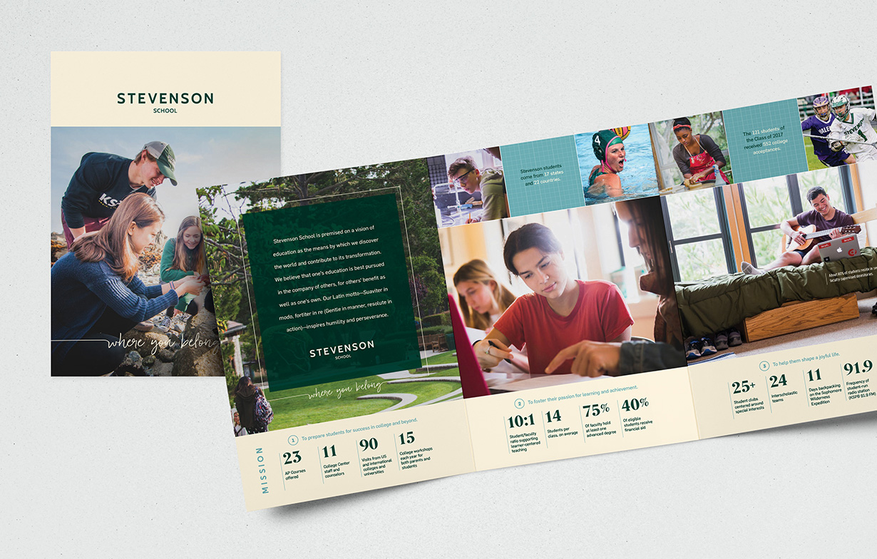 Stevenson School Travel Piece Brochure