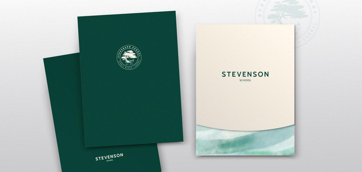 Stevenson stationery folders