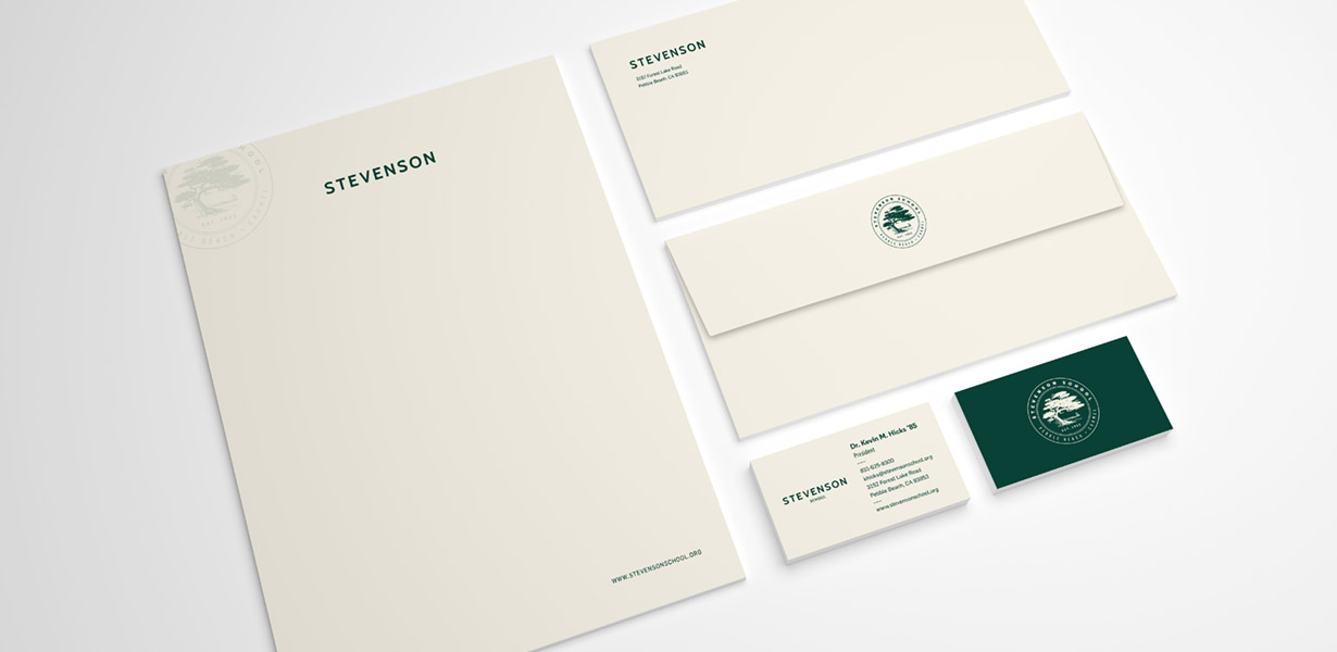 Stevenson Stationery and business card