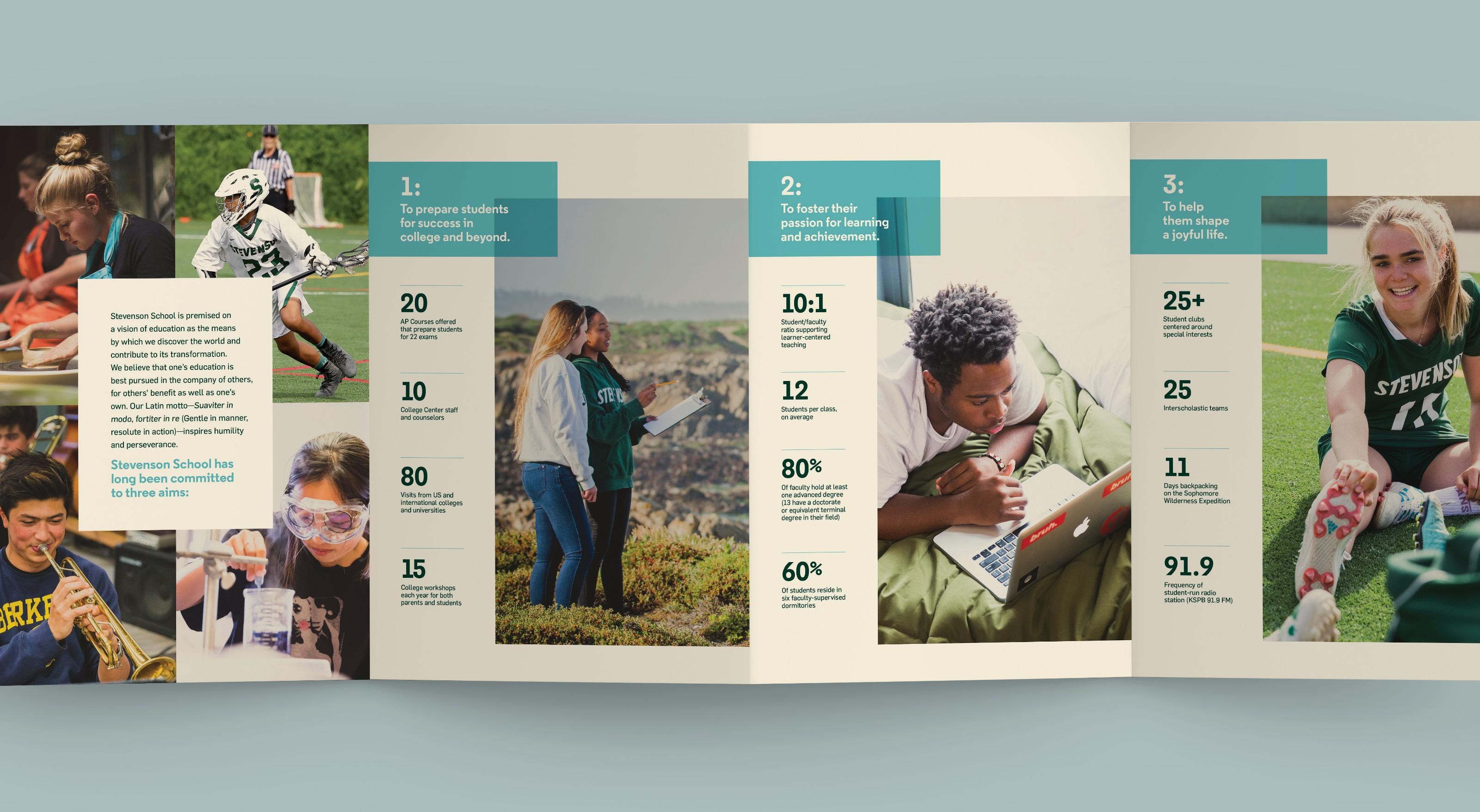 Stevenson school gate bifold brochure