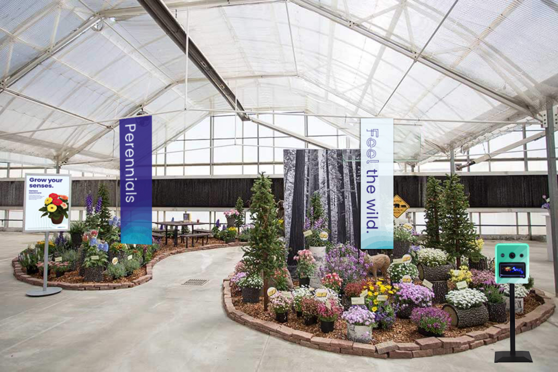 Flower trade show display mockup for 2020 event