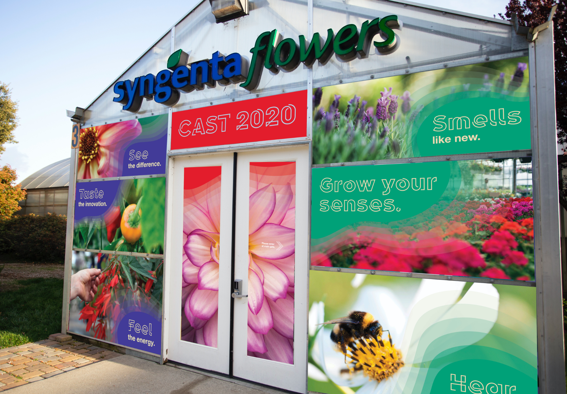 Syngenta Flowers greenhouse decorated for 2020 cast event