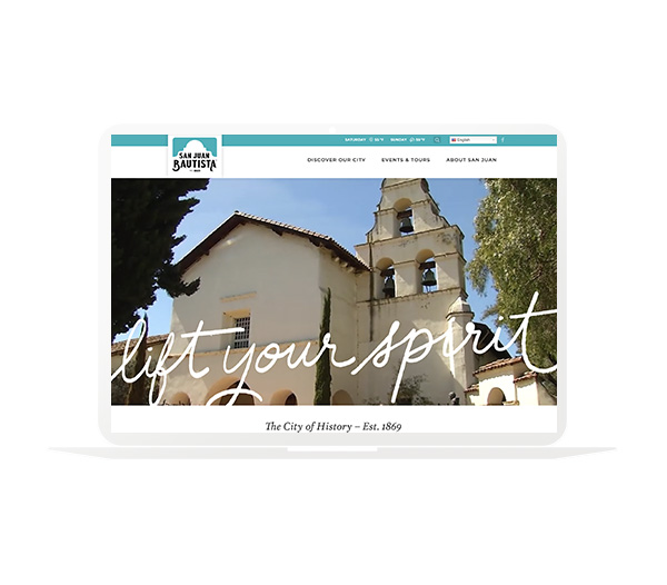 San Juan Bautista website design