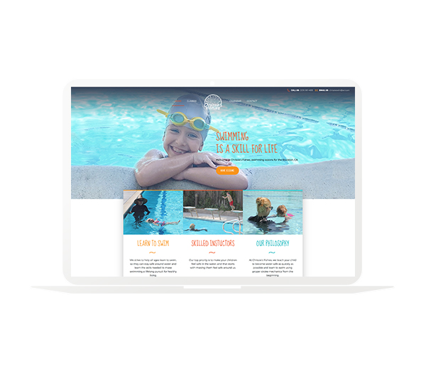 Chrissie's Fishes website design