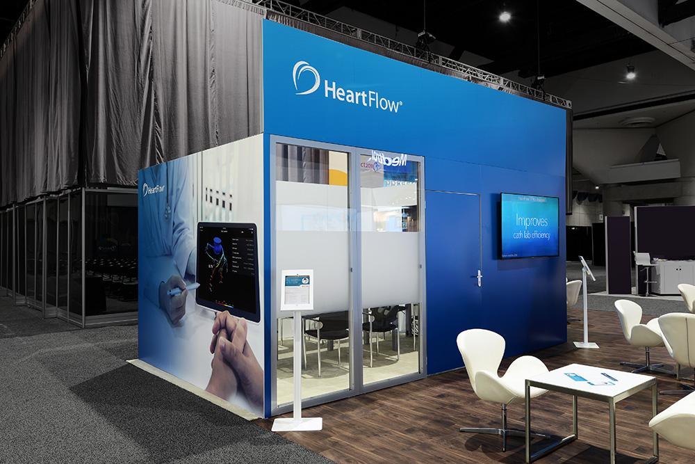 Heartflow trade show kiosk