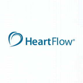 Heartflow logo header with heart imagery