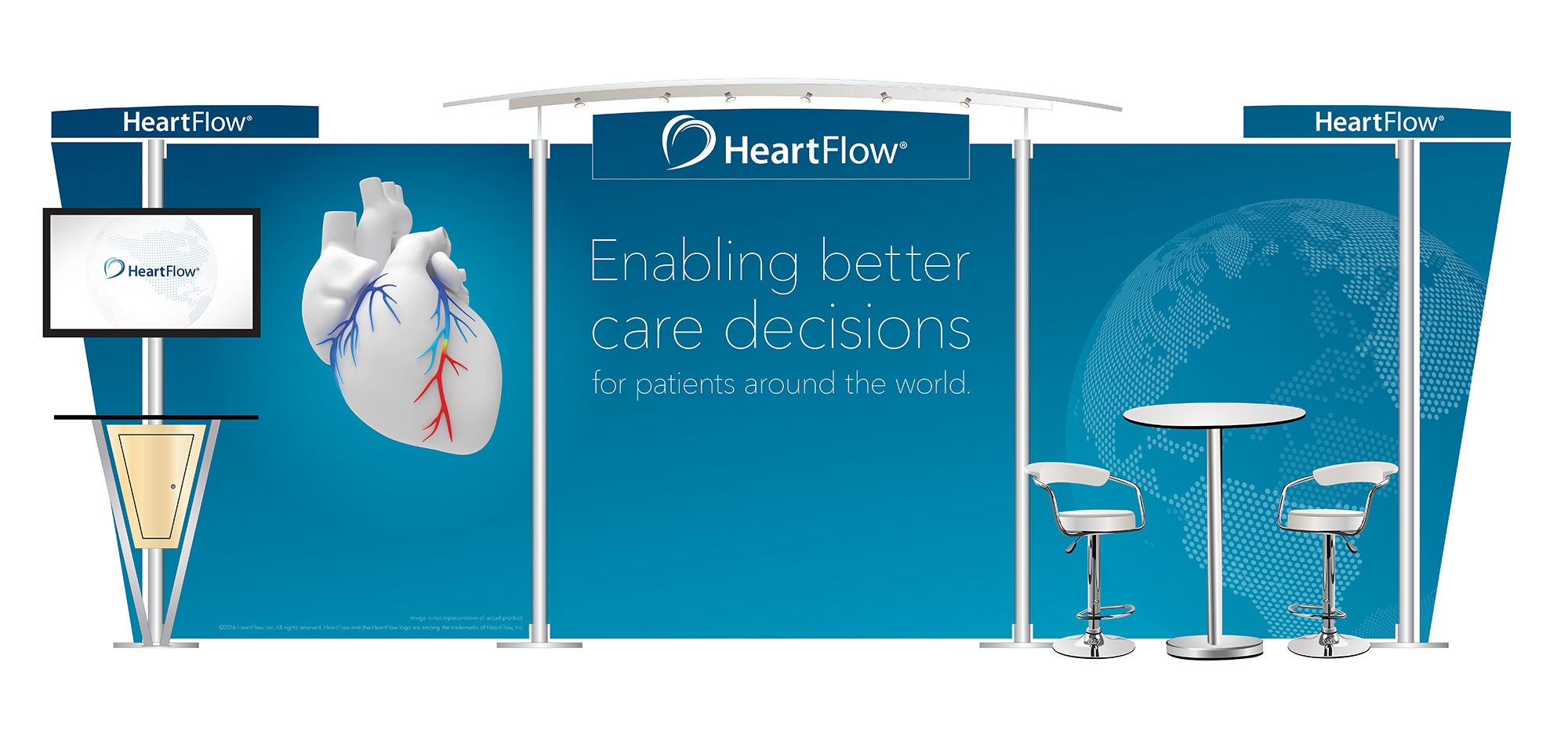 Heartflow trade show booth design