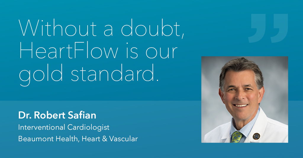 Heartflow testimonial with doctor photo