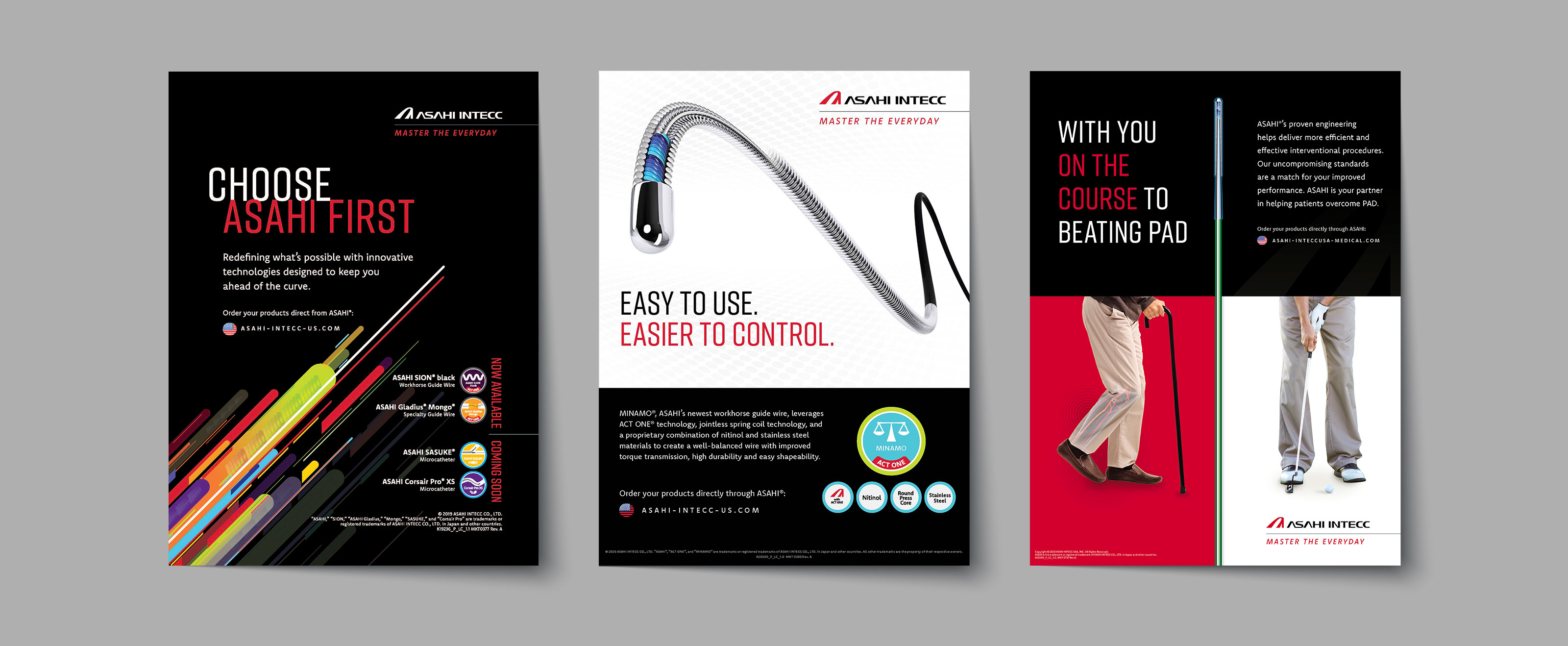 Asahi Intecc Medical Advertisement Designs