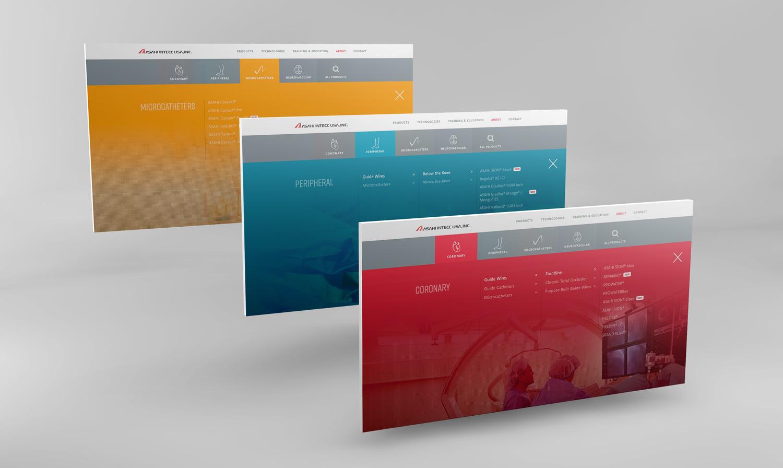 Asahi Website Navigation Design
