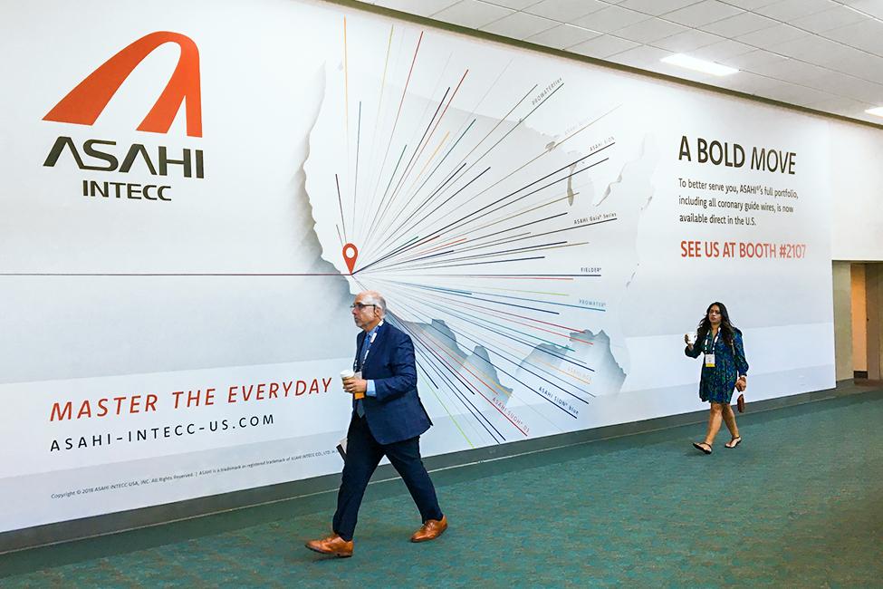 Asahi TCT Advertisement on wall