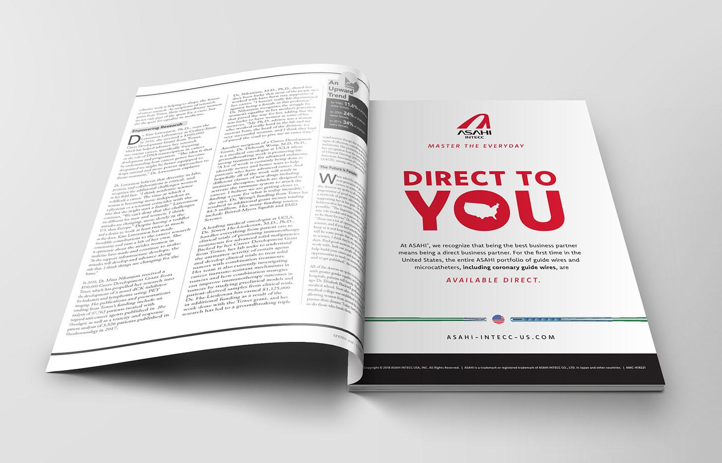 Asahi Trade Ad in publication