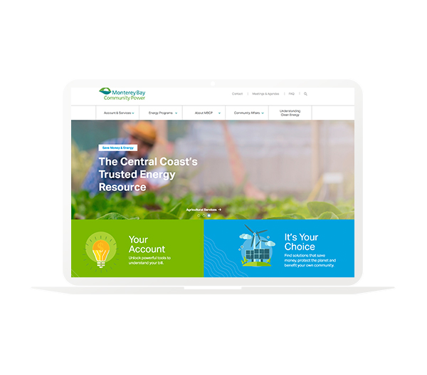 Monterey Bay Community Power website homepage design