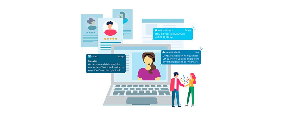 Sense laptop messaging illustration