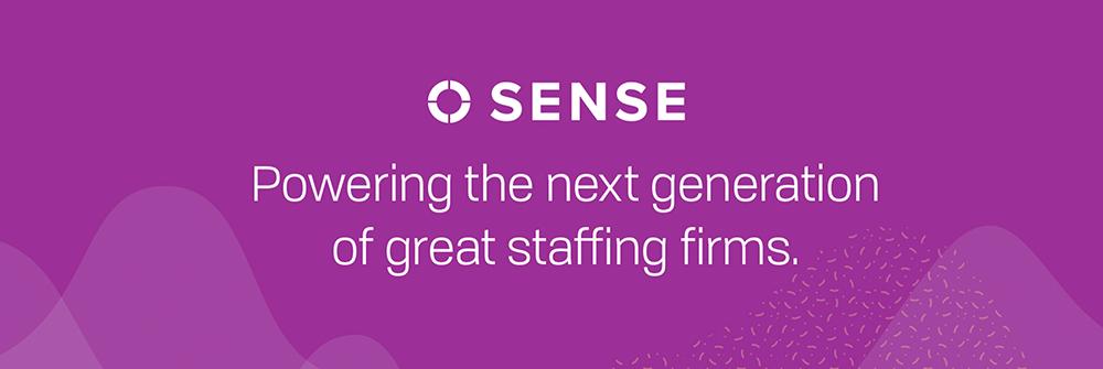 Sense logo and tagline header