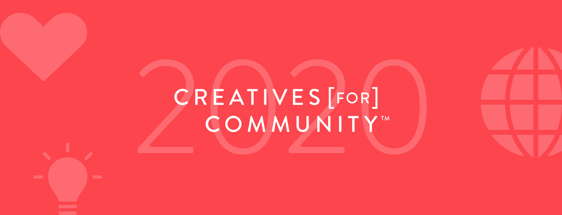 Creatives for Community 2020 Header