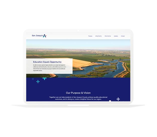 San Joaquin A Plus Website - Nonprofit Website Design